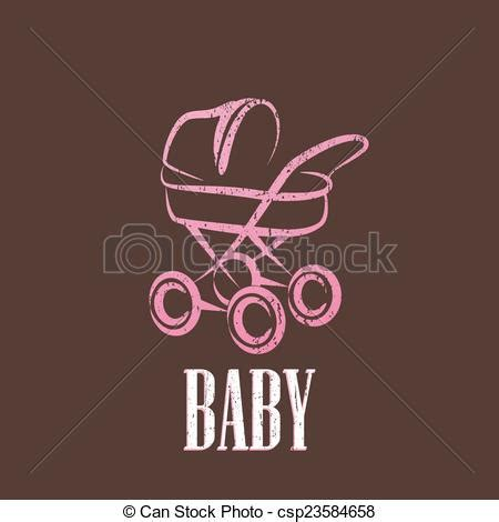 clipart bambino vettore clipart di bambino vendemmia carrozzina