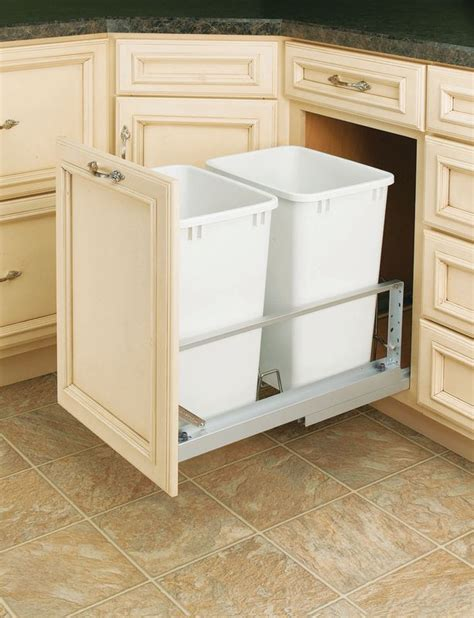 rev a shelf 5349 18dm 2 white 35 quart pull out