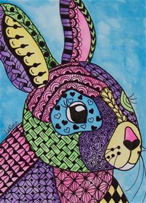 doodle creatures how to create rabbit easter colourful acrylic painting rabbit bunny by