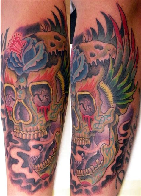 tattoo shops huntington wv painted skull by mathew hays tattoonow