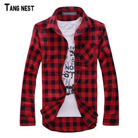 Baju Tartan Blouse Aj tangnest plaid shirt camisas 2017 new arrival s fashion plaid sleeved shirt