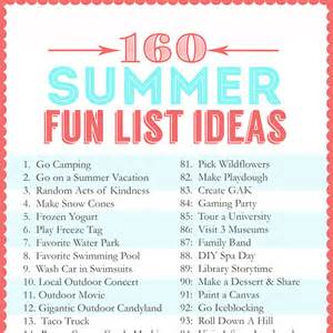 Activities To Do In 160 Summer List Ideas The Crafting