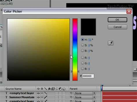 youtube layout color change the composition s background color in after effects