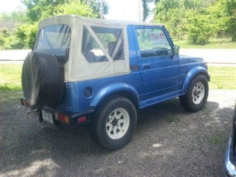 Buy Suzuki Sidekick Sell New 1987 Suzuki Samurai Sidekick 4x4 Ready To Drive
