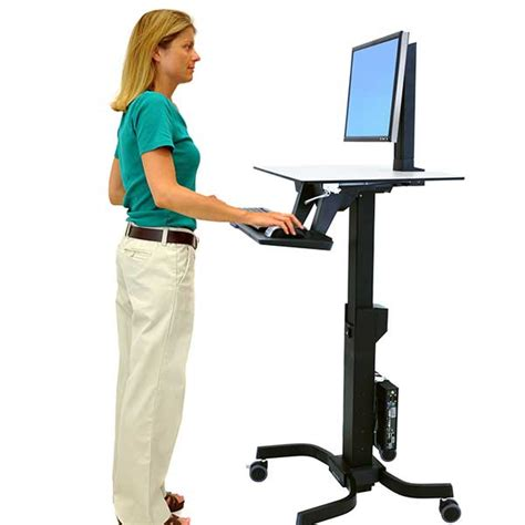 standing desk ergotron standing desks monitor mounts mobile carts ergotron
