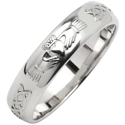 sterling silver comfort fit wedding bands irish wedding ring men s narrow sterling silver claddagh