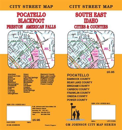 blackfoot american map idaho map map