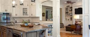 endearing brown color hickory kitchen cabinets