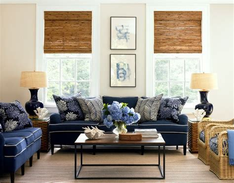 navy blue couch with white piping living room with two navy sofas with white piping and blue