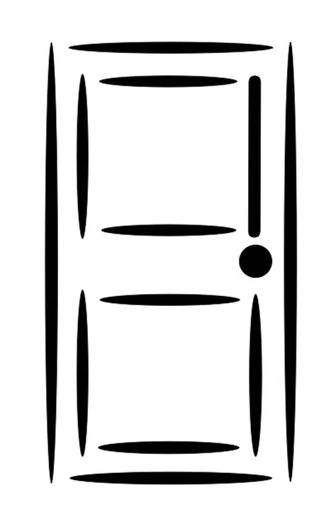 door graphics free vector graphic door white closed retro knot
