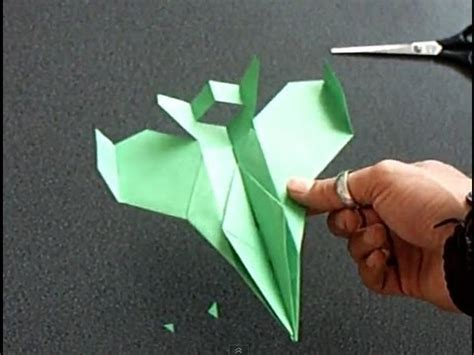 How To Make A Paper 16 - papierflieger quot faita quot bauanleitung f 16 paper airplane