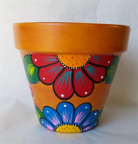 flower pots designs pottery hand painted flower pot rustic flower pot
