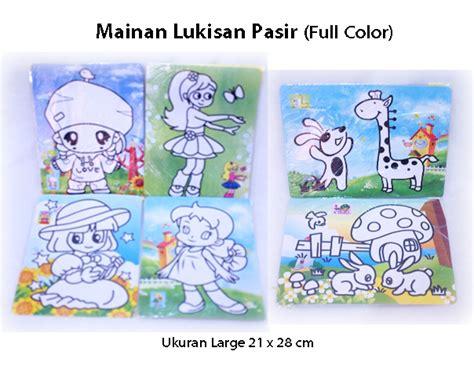 Mainan Lukisan Pasir Warna Small Karakter Anak Edukasi Kreativitas jual mainan lukisan pasir color edukatif edukasi