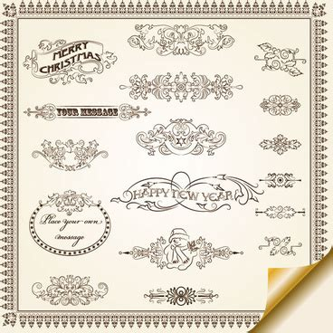border decorative vintage elements download decorative page borders free vector download