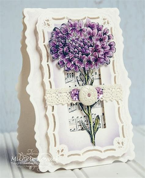 purple hydrangea by chelemom cards and paper crafts at