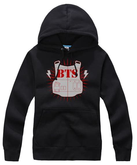 Sweater Bts New Logo Hitam Zemba Clothing kpop bts bangtan boys logo korean black sweater hoodies