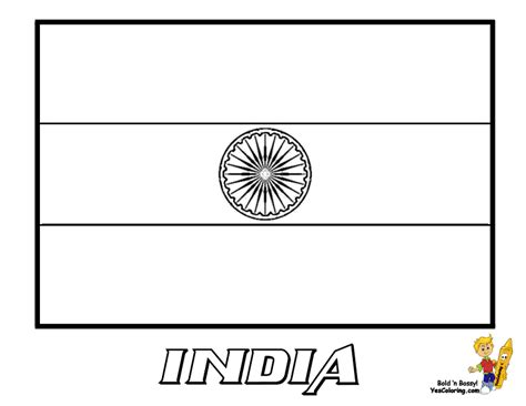 India Flag Coloring Page free coloring pages of indian flag