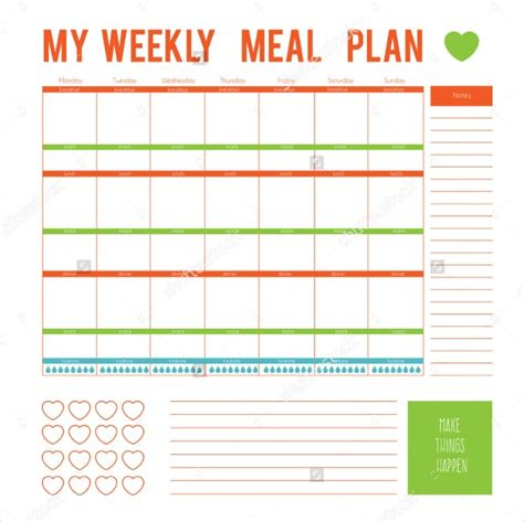 meal plan template word meal plan template word weekly pictures marvelous runnerswebsite