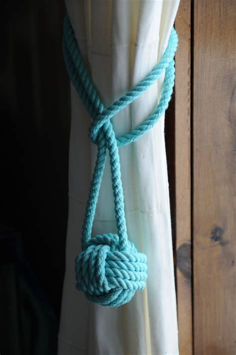etsy curtain tie backs nautical decor nautical curtain tie backs aqua curtain