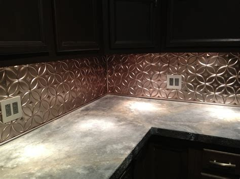 tin look backsplash panels diy concrete countertop and new tin backsplash it s