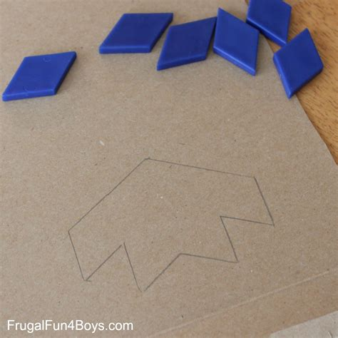 can you make copies of laminated paper print and color tessellation puzzles for
