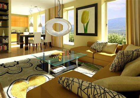 light yellow interior decoration picture