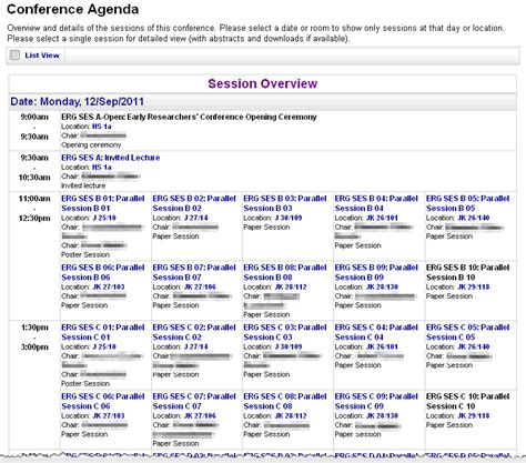 conference program templates conftool create the conference agenda
