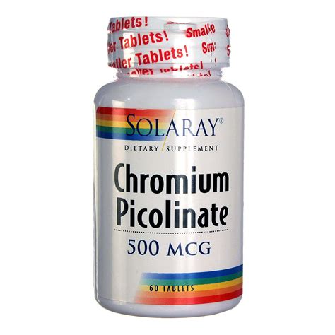 Chromium Picolinate Detox Liver by Solaray Chromium Picolinate 60 Tablets Evitamins