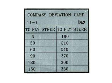 compass deviation card template custom card template 187 compass deviation card template