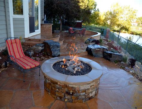 outdoor patio ideas with pit home decor also pictures