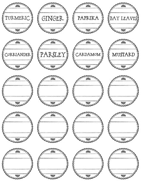 printable spice jar labels avery 29 best spice jar labels and templates images on pinterest