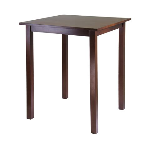 square high top table amazon com winsome solid wood parkland pub square table