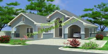House With 4 Bedrooms by Ghana House Plans Maame House Plan