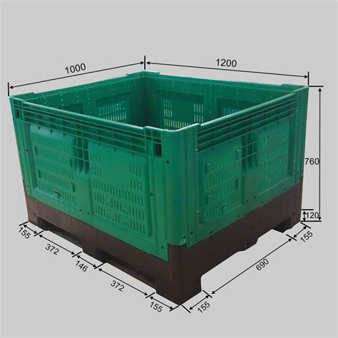 large flat storage containers industrial folding bulk plastic flat storage containers