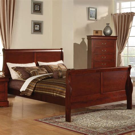 Louis Philippe King Sleigh Bedroom Set by Acme Furniture Louis Philippe Iii 19517ek King