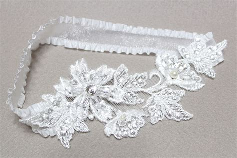 Handmade Garters - wedding garter bridal garter white garter lace garter