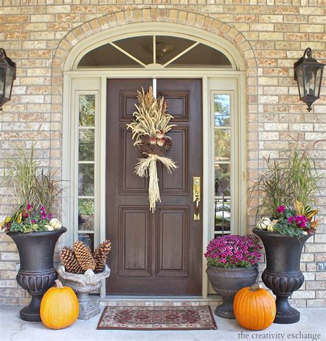 outdoor fall decorating ideas doors porches fall front porch decorating ideas the creativity exchange