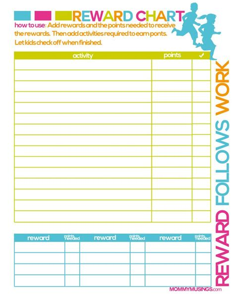printable incentive charts for toddlers free printable kids chore rewards chart kids rewards