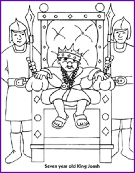 King Joash Sunday School Christian Ed Pinterest King Joash Coloring Page