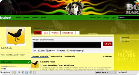 facebook themes reggae trick to install change themes on facebook with stylish