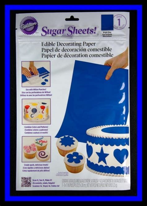 How To Make Sugar Sheets Edible Decorating Paper - sugar sheets blue edible decorating paper 1 sheet