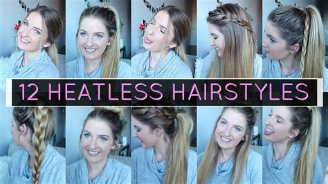 back to school heatless hairstyles 12 heatless hairstyles for back to school quick easy