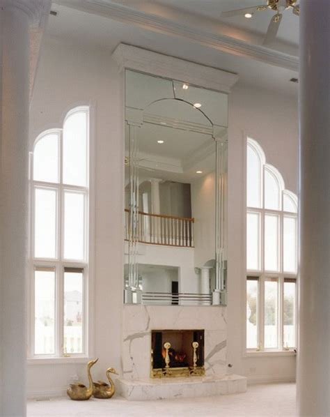 mirror fireplace custom fireplace mirrors creative mirror shower
