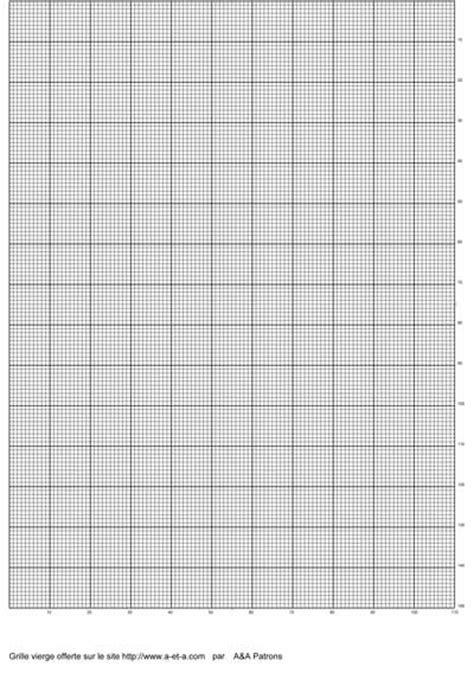 Point compté : grille vierge - A&A Patrons