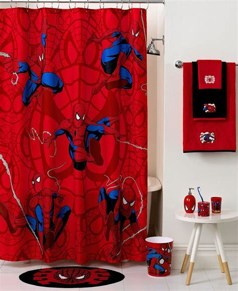 superhero curtains marvel marvel bath spiderman sense collection kids bath bed