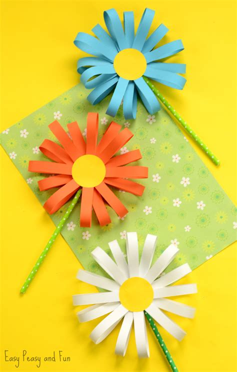 Paper Flower Craft Ideas - kid paper crafts the 36th avenue
