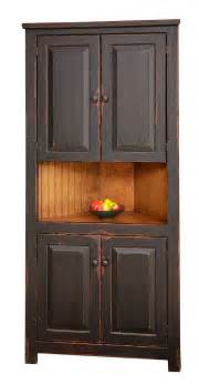 Kitchen Corner Furniture Primitive Rustic Corner Cabinet Pantry Country Kitchen Cottage Furniture Wood