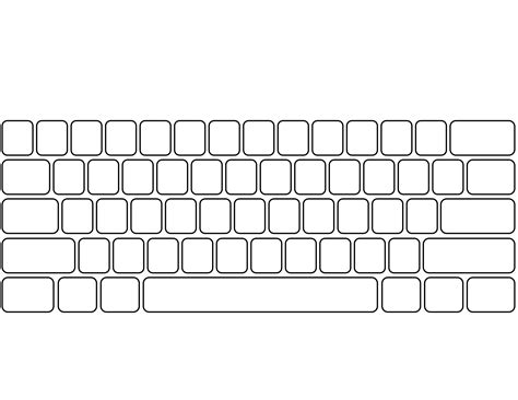 Blank Keyboard Template Ginger S 1 Tech Shop Keyboard Computer Lessons Teaching Computers Computer Keyboard Template