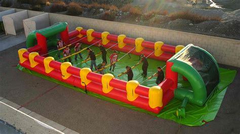 inflatable human foosball game gearnova