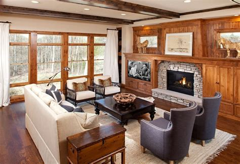 tv next to fireplace fireplace next to tv living room traditional with big and cozy wet bar built in